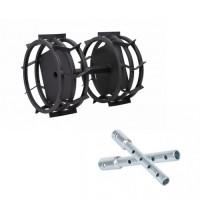 Метални колела за мотофреза FORTECO - 340 mm к-т с уширители