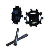Метални колела за мотофреза FORTECO - 320 mm к-т с уширители
